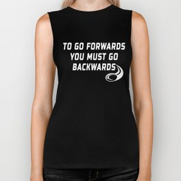 Rugby Go Backwards Quote Biker Tank