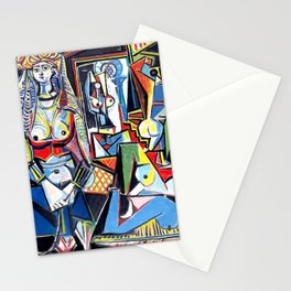 Pablo Picasso - Les Femmes d'Alger (Women of Algiers) 1955 Artwork Stationery Cards