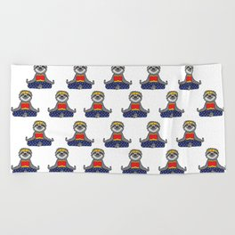 Wonder Sloth Yoga Beach Towel