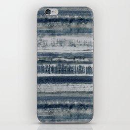 Expressive Indigo Watercolor Stripe iPhone Skin