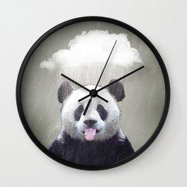 Panda Rain Wall Clock