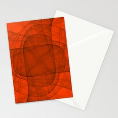 Fractal Eternal Rounded Cross in Red Stationery Cards