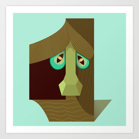 One treant face Art Print