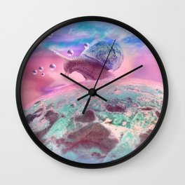 Snail country Wall Clock