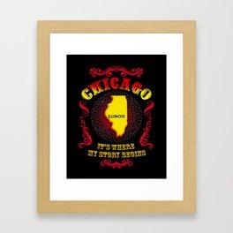 Chicago Story Framed Art Print