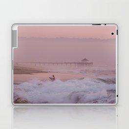 Manhattan Beach Surfer at Sunset Laptop & iPad Skin