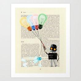 Love Robot - by Genu WORDISIAC™ TYPOGY™ Art Print