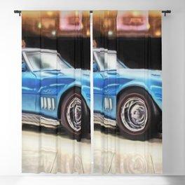 Vintage 1969 Ocean blue 427 Stingray Vette Big Block Blackout Curtain