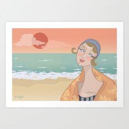 ◯ Summer Sunset ◯ Art Print