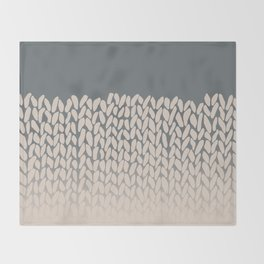 Half Knit Ombre Nat Throw Blanket