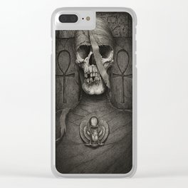 Pharaoh's Mummy Clear iPhone Case