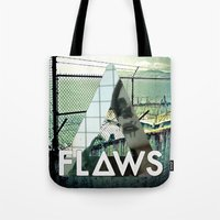 bastille Tote Bags featuring Bastille - Flaws by Thafrayer