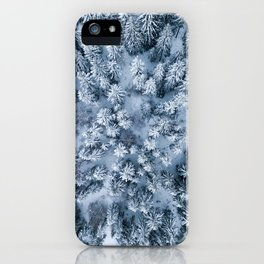 Winter Pine Forest iPhone Case