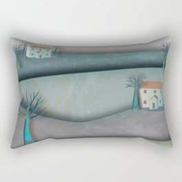 New Lands Cottages Rectangular Pillow