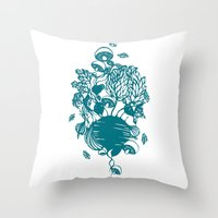 vegetables Throw Pillows featuring Vegetables  by Sarah Dennis