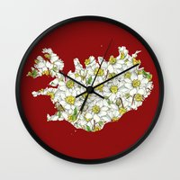 iceland Wall Clocks featuring Iceland by Ursula Rodgers