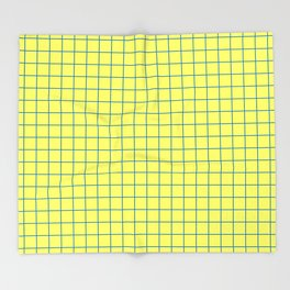 Grid Pattern - lemon yellow and blue - more colors Throw Blanket