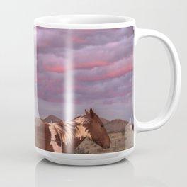 Santa Fe Sunset With Horses Coffee Mug