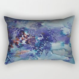 Blue Wisteria Descending Rectangular Pillow