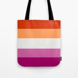 Lesbian pride flag 2 Tote Bag