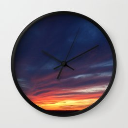 Sunset over the Finger Lakes Wall Clock