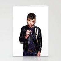 alex turner Stationery Cards featuring Alex Turner  by Trash Boat