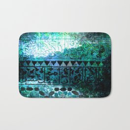 Dark Blue Abstract Celtic Bath Mat
