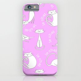Le Chat - Pink iPhone Case