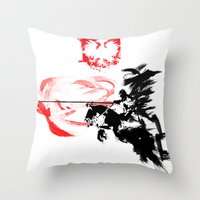 poland Throw Pillows featuring Polish Hussar - Poland - Polska Husaria by viva la revolucion