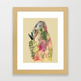 Beetle Queen Framed Art Print