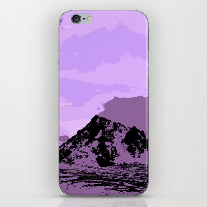 Chugach Mountains - EggPlant Pop Art iPhone Skin