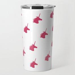 Pink Unicorn Silhouette Pattern Travel Mug
