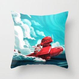 Porco Rosso Throw Pillow