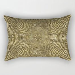 Circular Greek Meander Pattern - Greek Key Ornament Rectangular Pillow