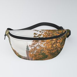 Photograph of Cloudy Autumn Day at the Rosenborg Castle in Copenhagen, Denmark Fanny Pack