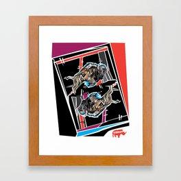 Buffalo Brawl 1 Framed Art Print