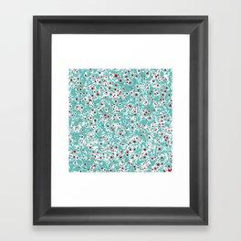 red wild dots Framed Art Print