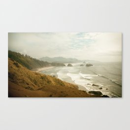 Ecola Beach Landscape, Oregon Canvas Print