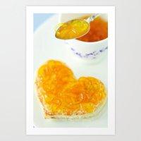 breakfast Art Prints featuring BREAKFAST by Ylenia Pizzetti