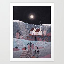 Midnight landscape V Art Print