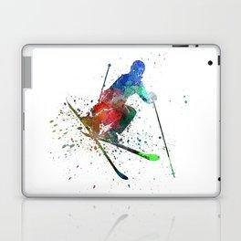 woman skier freestyler jumping Laptop & iPad Skin