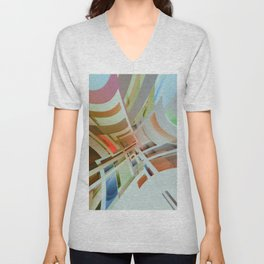 Abstract Composition 574 Unisex V-Neck