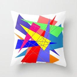 Colour triangles Throw Pillow