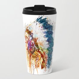 Native American Chief Travel Mug