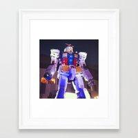 gundam Framed Art Prints featuring Gundam by CDina Photography