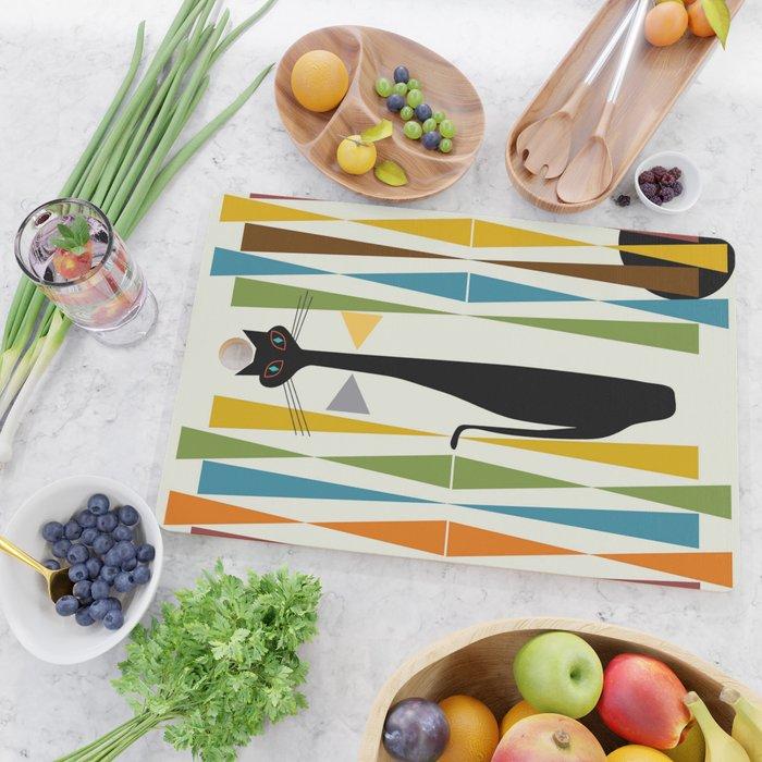 Mid-Century Modern Art Cat 2 Cutting Board