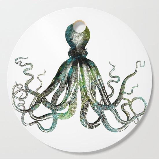 Octopus marine life watercolor art by lebensart
