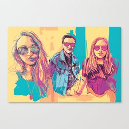 Digital Drawing #30 - Vinci Family (All Three) Canvas Print