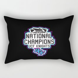 The Real Champions Black Rectangular Pillow