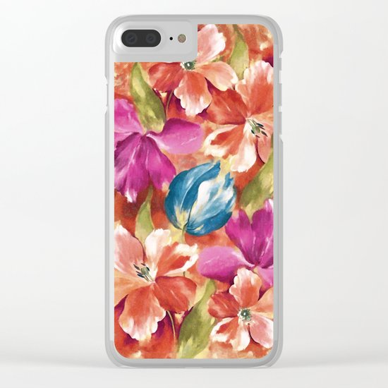 Spring flowers II Clear iPhone Case
